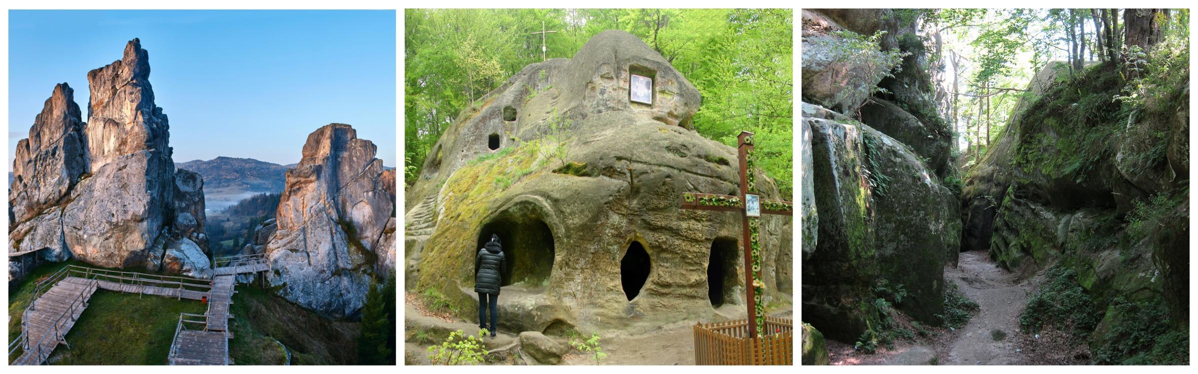 форт «Тустань», печера монастир, скелі Довбуша